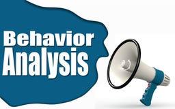 Behavior Analysis word with megaphone. 3d rendering royalty free illustration