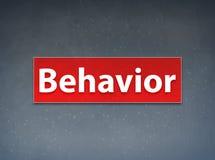 Behavior Red Banner Abstract Background. Behavior Isolated on Red Banner Abstract Background illustration Design royalty free illustration