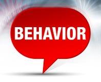Behavior Red Bubble Background. Behavior on Red Bubble Background vector illustration