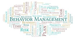 Behavior Management word cloud, made with text only. Behavior Management word cloud, made with text only vector illustration