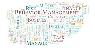 Behavior Management word cloud, made with text only. Behavior Management word cloud, made with text only stock illustration