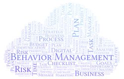 Behavior Management word cloud, made with text only. Behavior Management word cloud, made with text only royalty free illustration