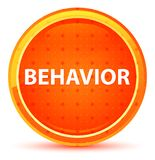Behavior Natural Orange Round Button. Behavior Isolated on Natural Orange Round Button royalty free illustration