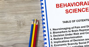 Behavioral Science concept Royalty Free Stock Images