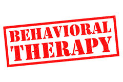 BEHAVIORAL THERAPY Rubber Stamp Stock Photography
