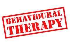 BEHAVIOURAL THERAPY Rubber Stamp Stock Images