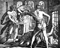 Beheading of John the Baptist Royalty Free Stock Photography