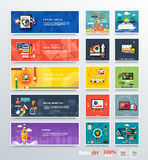 Beheer digitale marketing srartup planning stock illustratie