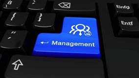Beheer om Motie op de Knoop van het Computertoetsenbord met Tekst en pictogram royalty-vrije illustratie