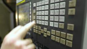 Beheer van CNC machine stock video