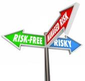 Beheerd Risico 3 Pijltekens verlicht Aansprakelijkheids Gevaarlijk Gedrag vector illustratie
