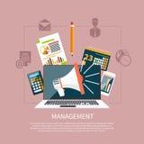 Beheersvoorwerpen, bedrijfs en bureaupunten vector illustratie