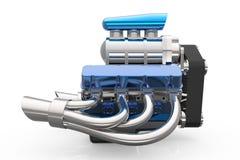 Beheizter Stab V8-Maschine 3D übertragen Stockfotografie