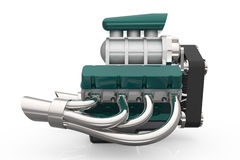 Beheizter Stab V8-Maschine 3D übertragen Stockbilder