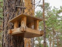 Behelfsmäßige Häuser für die Vögel im Park Stockbilder