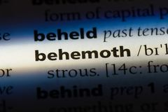 Behemoth. Word in a dictionary.  concept Royalty Free Stock Image