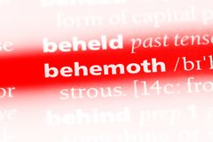 Behemoth. Word in a dictionary.  concept Royalty Free Stock Images