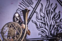 Behemoth, Nergal live concert Hellfest 2017 black metal. Behemoth is a Polish extreme metal band from Gdańsk, formed in 1991. They are considered to have played Stock Images
