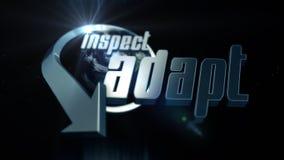 Behendig Concept: inspecteer en pas aan Royalty-vrije Stock Foto
