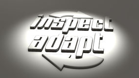 Behendig Concept: inspecteer en pas aan Royalty-vrije Stock Foto's