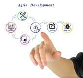 Behendig ontwikkelingsproces stock afbeeldingen