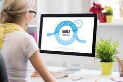 Behendige software-ontwikkelingmethode royalty-vrije stock afbeeldingen