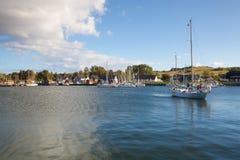 Beherbergten Sie Szene in Glowe, Ruegen-Insel, Deutschland Lizenzfreies Stockbild