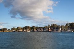 Beherbergten Sie Szene in Glowe, Ruegen-Insel, Deutschland Lizenzfreies Stockfoto