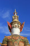 Behide giant statue at temple of the emerald buddha Royalty Free Stock Photography