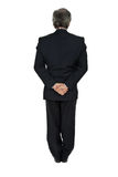 Behind. Mature business man full body from back Royalty Free Stock Photos