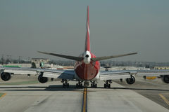 Behind An Airliner Stock Photo