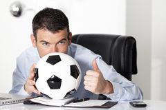 Behind the ball Royalty Free Stock Images