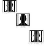 Behind bars Royalty Free Stock Photography