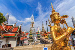 Behind the beautiful. The characters in literature, Thailand Temple of the Emerald Buddha . Or commonly known as the Temple of the Emerald Buddha in Bangkok and stock images