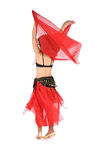 Behind bellydance Stock Image