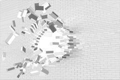 behind brick space wall Στοκ φωτογραφίες με δικαίωμα ελεύθερης χρήσης