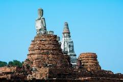 Behind the Buddha. At old Temple ayutthaya Stock Photos