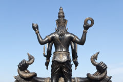 Behind buddha in temple Royalty Free Stock Photography