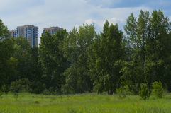Behind city boundaries Stock Photo