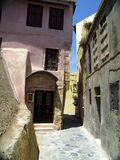 Behind the city wall. Footway behind the city wall of chania, crete, greece royalty free stock photography