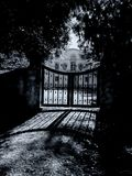Behind closed gate Royalty Free Stock Photos