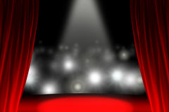 Behind the curtain while public is waiting Royalty Free Stock Photography