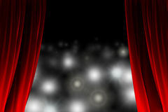 Behind the curtain watching flash lights Royalty Free Stock Photos