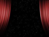 Behind curtains, starlight Stock Photo
