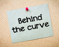 Behind the curve Stock Image