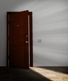 Behind the door Stock Image
