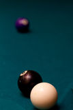 Behind the eight ball. Metaphor Royalty Free Stock Image