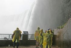 Behind the falls Stock Photos
