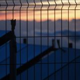 Behind the fence Royalty Free Stock Photos