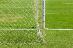 Behind the football (soccer) goal Stock Photos